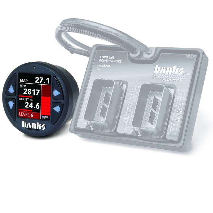 Banks Power - Banks Power Economind Diesel Tuner (PowerPack calibration) with Banks iDash 1.8 Super Gauge for use with 2003-2007 Ford 6.0 Truck/2003-2005 Excursion Banks Power 61421