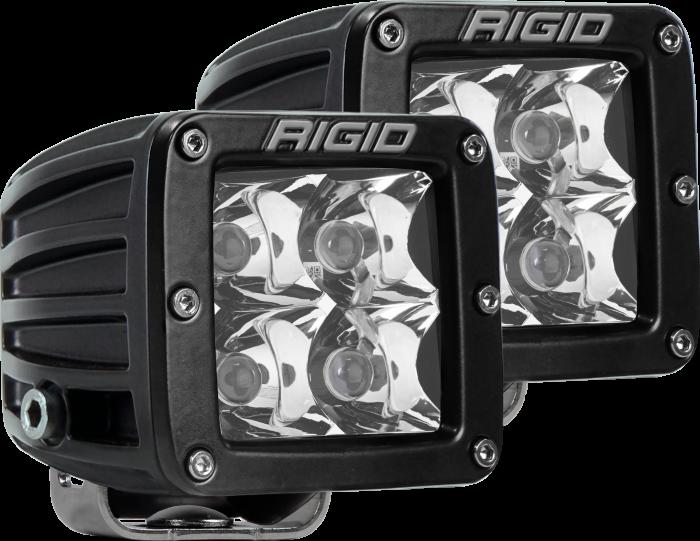 Rigid Industries - Rigid Industries Spot Surface Mount Black Pair D-Series Pro RIGID Industries 202213
