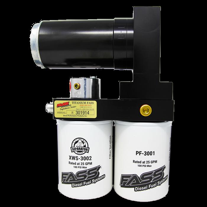 FASS Fuel Systems - FASS TITANIUM SIGNATURE SERIES DIESEL FUEL LIFT PUMP 220GPH@65PSI FORD POWERSTROKE 2017-2019