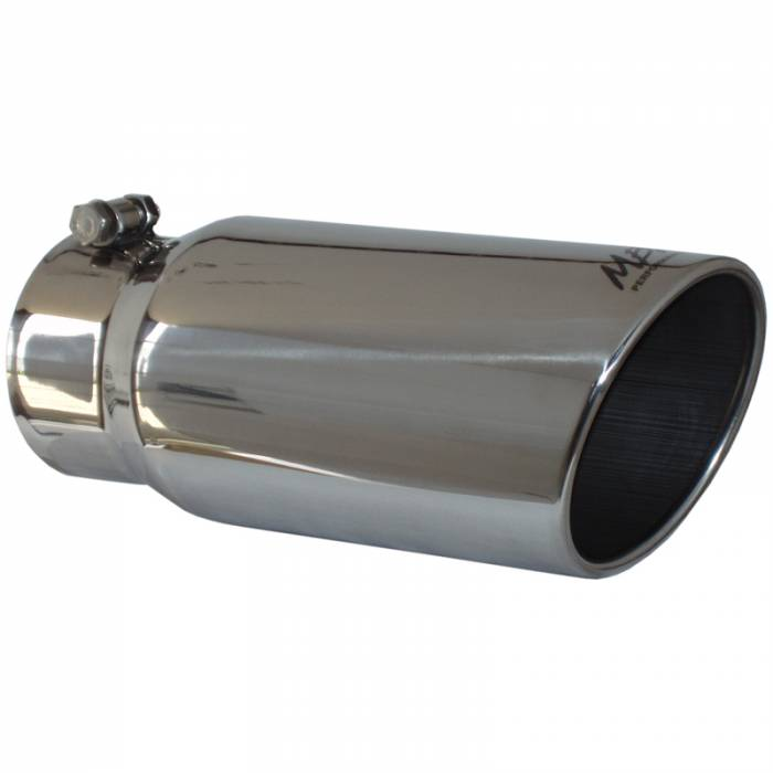 "MBRP Exhaust - MBRP (4"" Inlet, 5"" Outlet, 12"" Length) 304 Stainless Angle Cut Exhaust Tip T5051"