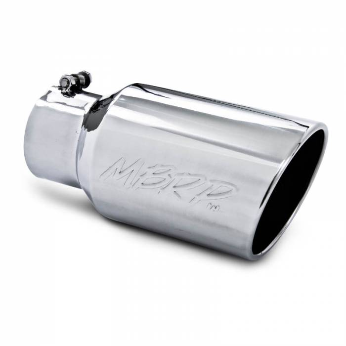 """MBRP Exhaust - MBRP (4"""" Inlet, 6"""" Outlet, 12"""" Length) Angle Cut Rolled End Stainless Exhaust Tip T5073"""