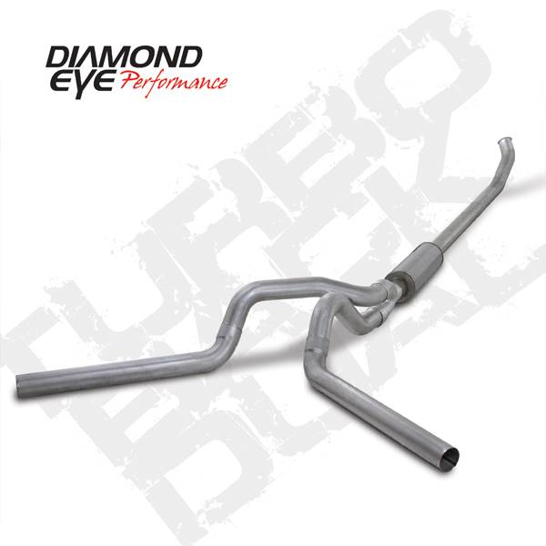 Diamond Eye Performance - Diamond Eye 2003-2004 Cummins Turbo Back Dual Exhaust