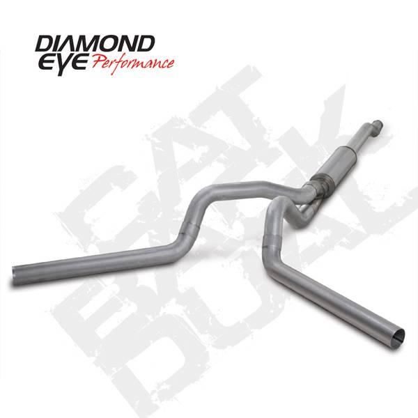 Diamond Eye Performance - Diamond Eye 2003-2007 Powerstroke Cat Back Dual Exhaust