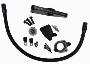 Cooling System - Cooling System Parts - Fleece Performance - Fleece Performance Cummins Coolant Bypass Kit 2003-2007 Manual Transmission Fleece Performance FPE-CLNTBYPS-CUMMINS-MAN
