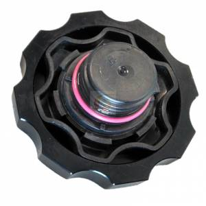Shop By Part - Maintenance - Fleece Performance - Fleece Performance Cummins Billet Oil Cap Cover Black Fleece Performance FPE-OC-CR-F