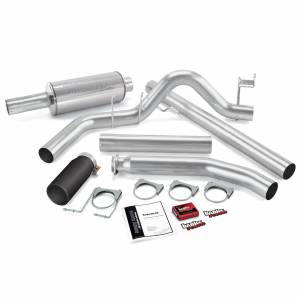 Banks Power - Banks Power Git-Kit Bundle Power System W/Single Exit Exhaust Black Tip 98-00 Dodge 5.9L Extended Cab Banks Power 49358-B