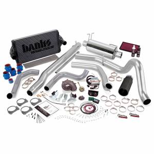 Banks Power PowerPack Bundle Complete Power System W/Single Exit Exhaust Black Tip 99.5-03 Ford 7.3L F250/F350 Automatic Transmission Banks Power 47556-B