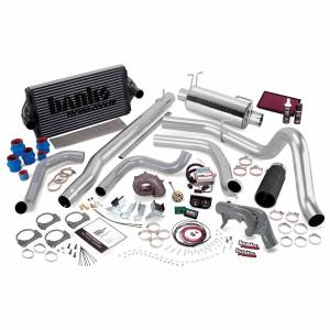 Banks Power PowerPack Bundle Complete Power System W/Single Exit Exhaust Black Tip 99.5 Ford 7.3L F250/F350 Automatic Transmission Banks Power 47541-B