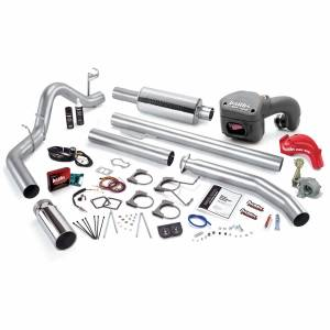 Banks Power - Banks Power PowerPack Bundle Complete Power System W/Single Exit Exhaust Chrome Tip 98.5-00 Dodge 5.9L Extended Cab Banks Power 49391
