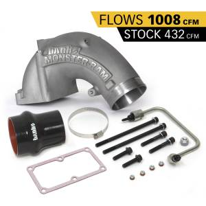 Shop By Part - Engine Components - Banks Power - Banks Power Monster-Ram Intake Elbow Kit W/Fuel Line and Hump Hose 4 Inch Natural 07.5-18 Dodge/Ram 2500/3500 6.7L Banks Power 42790