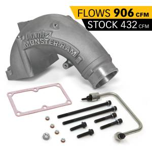 Shop By Part - Engine Components - Banks Power - Banks Power Monster-Ram Intake Elbow Kit W/Fuel Line 3.5 Inch Natural 07.5-18 Dodge/Ram 2500/3500 6.7L Banks Power 42788