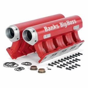 Shop By Part - Engine Components - Banks Power - Banks Power Big Hoss Racing Intake Manifold System Red Powder Coated 01-15 Chevy/GM 6.6L Banks Power 42733