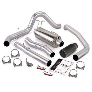 Exhaust - Exhaust Systems - Banks Power - Banks Power Monster Exhaust System Single Exit Black Tip 03-07 Ford 6.0L F450-F550 Crew Cab 200 inch Banks Power 47291-B