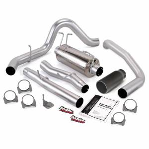 Exhaust - Exhaust Systems - Banks Power - Banks Power Monster Exhaust System Single Exit Black Round Tip 03-07 Ford 6.0L ECLB Banks Power 48786-B