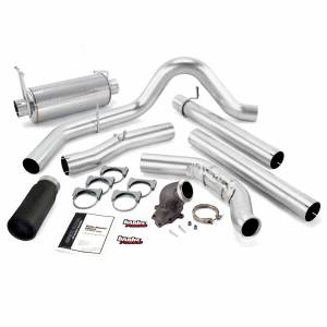 Exhaust - Exhaust Systems - Banks Power - Banks Power Monster Exhaust System W/Power Elbow Single Exit Black Round Tip 01-03 Ford 7.3L-275hp Manual Transmission W/Catalytic Converter Banks Power 48660-B