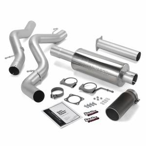 Exhaust - Exhaust Systems - Banks Power - Banks Power Monster Exhaust System Single Exit Black Round Tip 02-05 Chevy 6.6L EC/CCLB Banks Power 48634-B