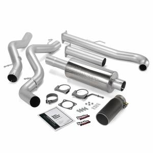 Exhaust - Exhaust Systems - Banks Power - Banks Power Monster Exhaust System Single Exit Black Tip 01-04 Chevy 6.6L SCLB Banks Power 48628-B