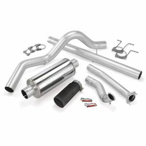 Exhaust - Exhaust Systems - Banks Power - Banks Power Monster Exhaust System Single Exit Black Tip 94-97 Ford 7.3L ECLB Banks Power 46298-B