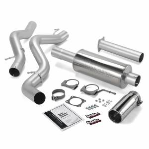 Exhaust - Exhaust Systems - Banks Power - Banks Power Monster Exhaust System Single Exit Chrome Round Tip 02-05 Chevy 6.6L EC/CCLB Banks Power 48634