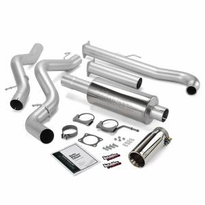 Exhaust - Exhaust Systems - Banks Power - Banks Power Monster Exhaust System Single Exit Chrome Tip 01-04 Chevy 6.6L EC/CCSB Banks Power 48629