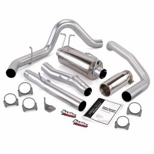 Exhaust - Exhaust Systems - Banks Power - Banks Power Monster Exhaust System Single Exit Chrome Tip 03-07 Ford 6.0L F450-F550 CC Crew Cab 176 inch Banks Power 47289