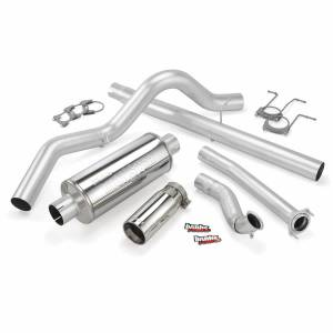 Exhaust - Exhaust Systems - Banks Power - Banks Power Monster Exhaust System Single Exit Chrome Tip 94-97 Ford 7.3L ECSB Banks Power 46296