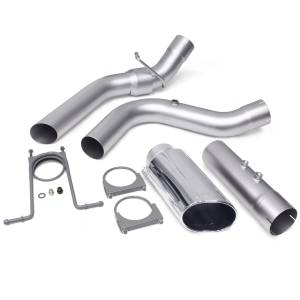 Exhaust - Exhaust Systems - Banks Power - Banks Power Monster Exhaust System 4-inch Single Exit Chrome Tip with CoolCuff 17-18 Chevy 6.6L L5P from Banks Power 48947