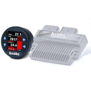 2008-2010 Ford 6.4L Powerstroke - Programmers/Tuners/Chips - Banks Power - Banks Power Six-Gun Diesel Tuner with Banks iDash 1.8 Super Gauge for use with 2008-2010 Ford 6.4L Banks Power 61422