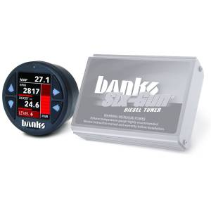 2001-2004 GM 6.6L LB7 Duramax - Programmers/Tuners/Chips - Banks Power - Banks Power Six-Gun Diesel Tuner with Banks iDash 1.8 Super Gauge for use with 2004-2005 Chevy 6.6L, LLY Banks Power 61412