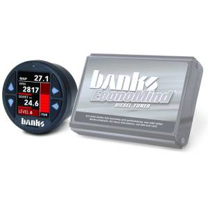 Shop By Part - Programmers/Tuners/Chips - Banks Power - Banks Power Economind Diesel Tuner (PowerPack calibration) with Banks iDash 1.8 Super Gauge for use with 2007-2010 Chevy 6.6L, LMM Banks Power 61415