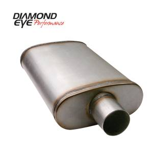 Exhaust - Mufflers - Diamond Eye Performance - Diamond Eye Performance PERFORMANCE DIESEL EXHAUST PART-3.5in. 409 STAINLESS STEEL PERFORMANCE PERFORATE 360012