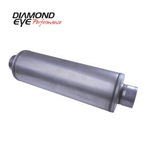 Exhaust - Mufflers - Diamond Eye Performance - Diamond Eye Performance PERFORMANCE DIESEL EXHAUST PART-5in. ALUMINIZED PERFORMANCE LOUVERED MUFFLER-30i 460100