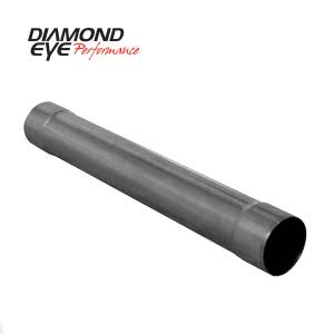 Exhaust - Mufflers - Diamond Eye Performance - Diamond Eye Performance PERFORMANCE DIESEL EXHAUST PART-4in. 409 STAINLESS STEEL PERFORMANCE MUFFLER REP 510209