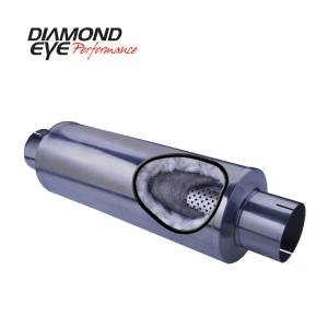 Exhaust - Mufflers - Diamond Eye Performance - Diamond Eye Performance PERFORMANCE DIESEL EXHAUST PART-5in. 409 STAINLESS STEEL PERFORMANCE PERFORATED 560031