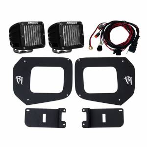 Lighting - Lighting Accessories - Rigid Industries - Rigid Industries 16-17 Toyota Tacoma Fog Light Mount Kit Includes 2 SAE D-Series Lights D-Series Pro RIGID Industries 465673