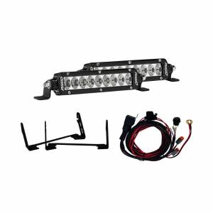 Lighting - Lighting Accessories - Rigid Industries - Rigid Industries 17-18 Ford Raptor Stealth Grille Kit Includes Mounts and 2 6 Inch Sr-Series RIGID Industries 41612