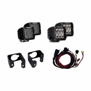 Lighting - Lighting Accessories - Rigid Industries - Rigid Industries 17-18 Ford Super Duty Dual Fog Light Kit Includes Mounts and 4 D-Series RIGID Industries 41616