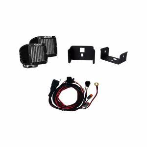 Lighting - Lighting Accessories - Rigid Industries - Rigid Industries 17-18 Ford Super Duty Single Fog Light Kit Includes Mounts and 2 D-Series RIGID Industries 41614