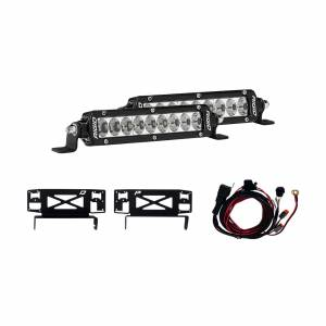 Lighting - Lighting Accessories - Rigid Industries - Rigid Industries 17-18 Ford Superduty Stealth Grille Kit Includes Mounts and Two 6 Inch SR-Series RIGID Industries 41618