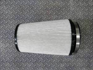 "Wehrli Custom Fabrication - Wehrli Custom Fabrication Dry Air Filter 4"" Inlet"