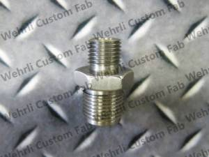 Wehrli Custom Fabrication - Wehrli Custom Fabrication High Pressure Rail Fitting for LB7, LLY, LML