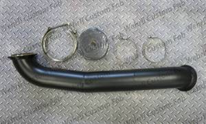 "Wehrli Custom Fabrication - Wehrli Custom Fabrication Duramax S300 3"" Down Pipe"