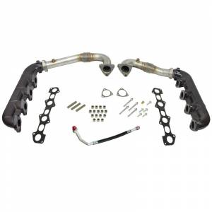 Intercoolers and Pipes - Piping - BD Diesel - BD Diesel UpPipes - Exhaust Manifolds Kit - Ford 2008-2010 6.4L 1041481