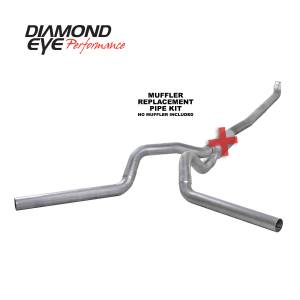 Exhaust - Exhaust Systems - Diamond Eye Performance - Diamond Eye Performance 2001-2007.5 CHEVY/GMC 6.6L DURAMAX 2500/3500 (ALL CAB AND BED LENGTHS) 4in. ALUM K4116A-RP