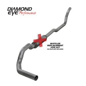 Exhaust - Exhaust Systems - Diamond Eye Performance - Diamond Eye Performance 1989-1993 DODGE 5.9L CUMMINS 2500/3500 (ALL CAB AND BED LENGTHS)-4in. ALUMINIZED K4209A-RP