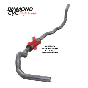 Exhaust - Exhaust Systems - Diamond Eye Performance - Diamond Eye Performance 1989-1993 DODGE 5.9L CUMMINS 2500/3500 (ALL CAB AND BED LENGTHS)-4in. ALUMINIZED K4211A-RP