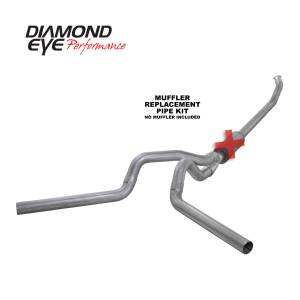 Exhaust - Exhaust Systems - Diamond Eye Performance - Diamond Eye Performance 2003-2004.5 DODGE 5.9L CUMMINS 2500/3500 (ALL CAB AND BED LENGTHS)-4in. ALUMINIZ K4220A-RP