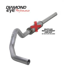 Exhaust - Exhaust Systems - Diamond Eye Performance - Diamond Eye Performance 2004.5-2007.5 DODGE 5.9L CUMMINS 2500/3500 (ALL CAB AND BED LENGTHS)-4in. ALUMIN K4234A-RP