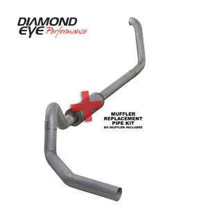 Exhaust - Exhaust Systems - Diamond Eye Performance - Diamond Eye Performance 1999.5-2003.5 FORD 7.3L POWERSTROKE F250/F350 CAB/CHASSIS-4in. ALUMINIZED-PERFOR K4326A-RP