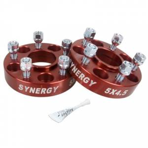 Wheel & Tire - Wheel & Tire Accessories - Synergy MFG - Synergy MFG Jeep Hub Centric Wheel Spacers 5X4.5-1.25 Inch Width 1/2-20 UNF Stud Size Synergy MFG 4111-5-45-H